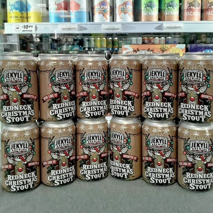 jekyll redneck-christmas stout -limited local beer -craft beer -coal mtn package store