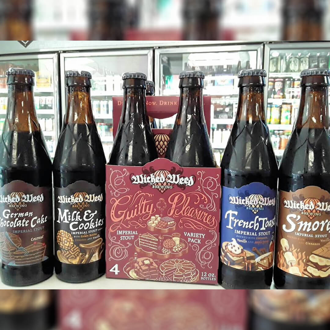 wicked weed-imperial stout variety pack- guility pleasures-coal mountain package store- caft beer